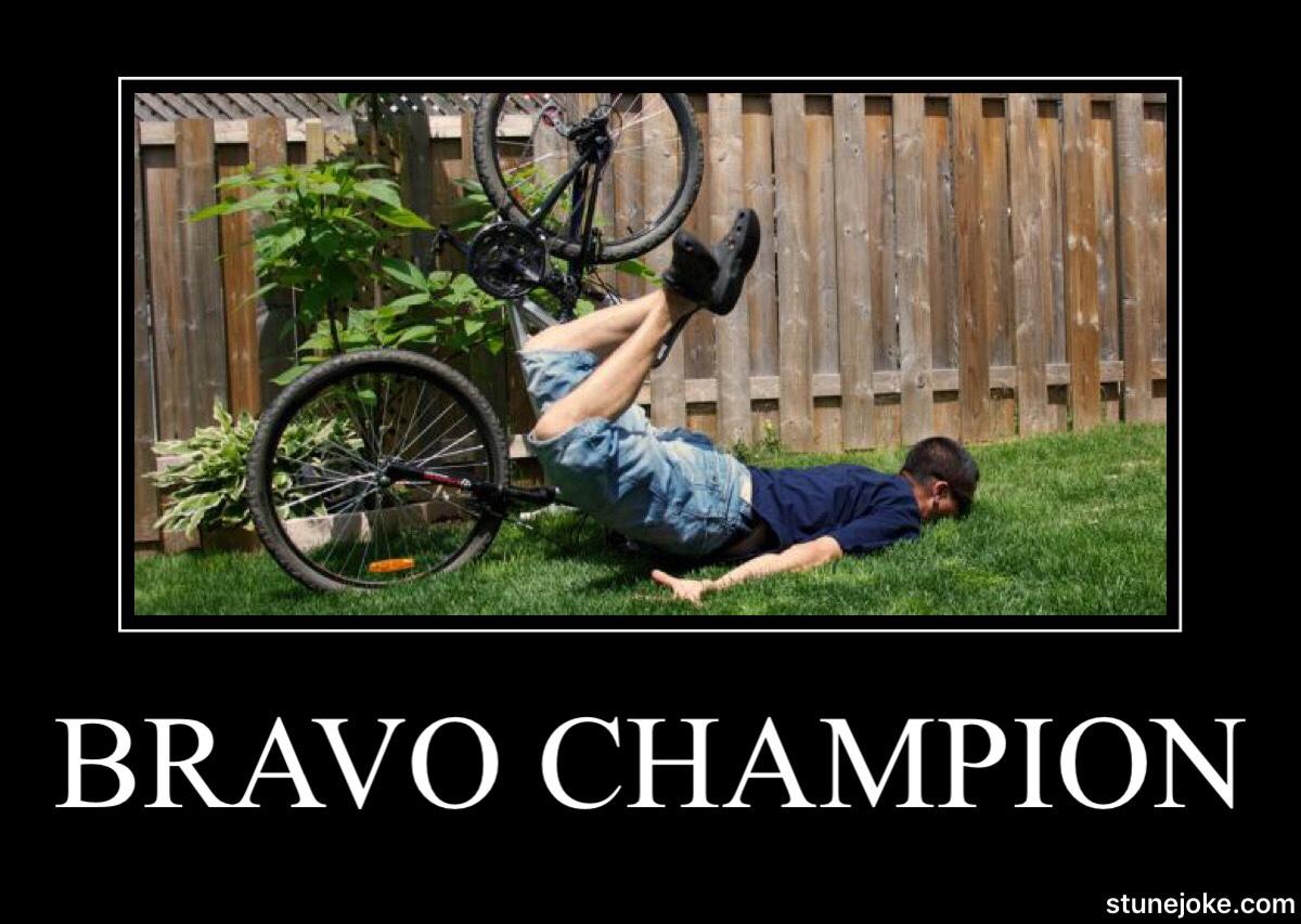 Grand champion à vélo